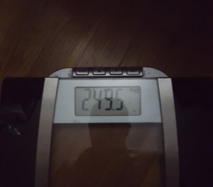 249.5LB On Scale